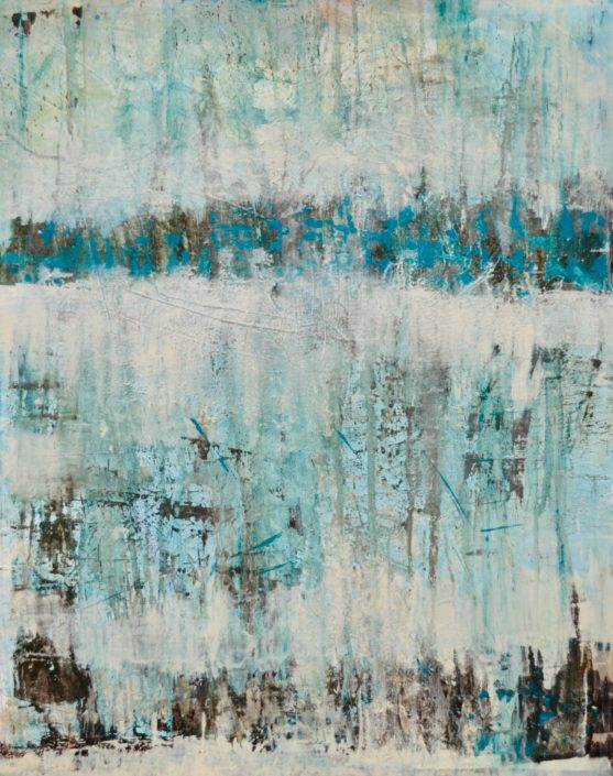 """Struktur im Blau II"" (80x100)"